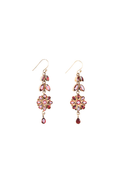 GARNET DROP EARRING