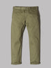 Edwin 55 Chinos (Rinsed 9Oz Military Green Compact Twill Cotton)