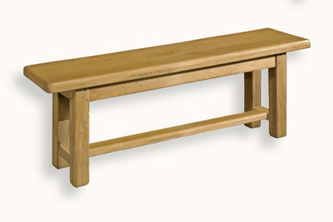 French Mountain Oak - Bench - farmhouse with square legs and crossbar - 6 sizes