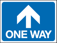 One way - arrow straight sign