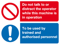 Do not talk to or distract the operator sign