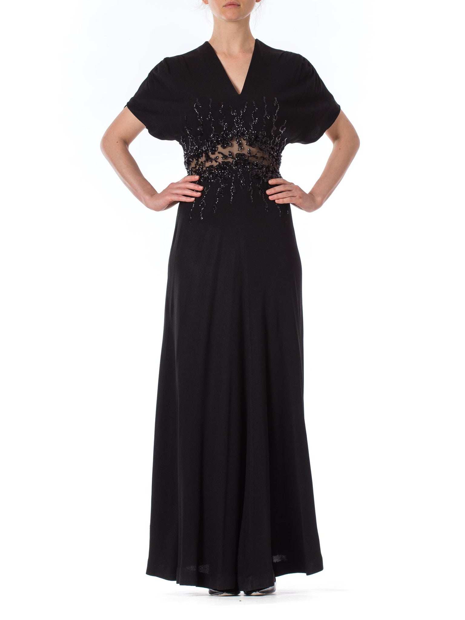Sequined Jean Carol 1930s Gown