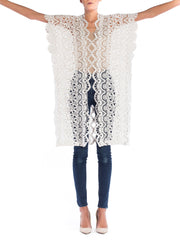 Morphew Lab Whitework Open Embroidered Lace Woven Jacket