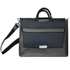 Pewter & Navy Racing Stripe Messenger