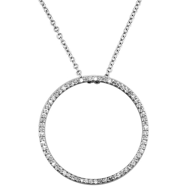 Large Open Diamond Circle Pendant