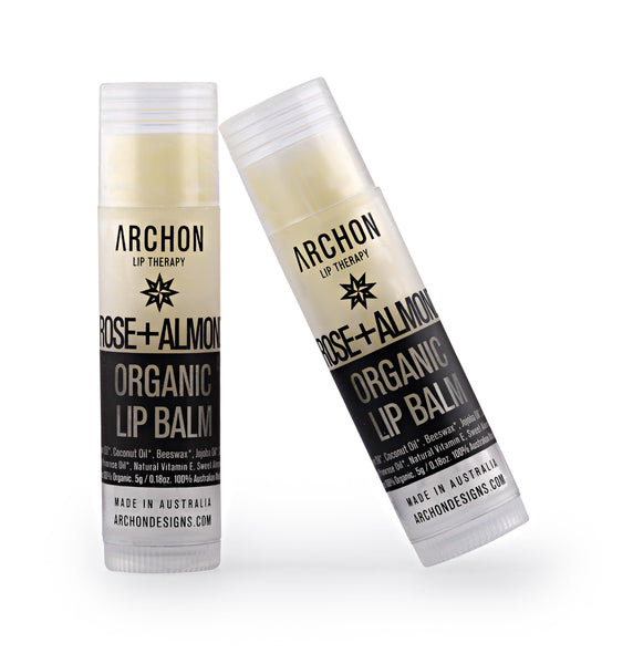 Rose & Almond Organic Lip Balm