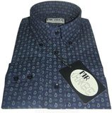 Shirt Paisley Navy Blue Mr Free