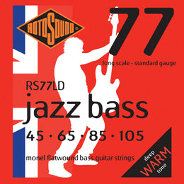 Rotosound Jazz Bass 77 Long Scale Monel Flatwound Electric Bass Strings