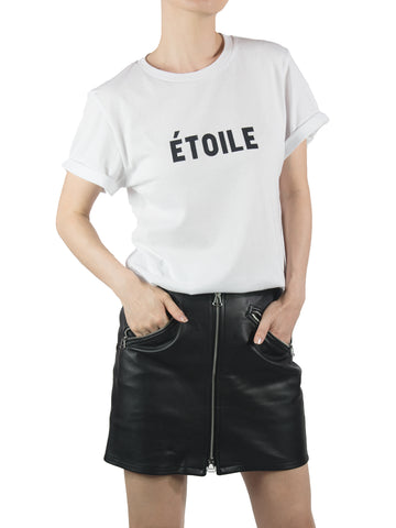 ETOILE rolled cuff tee