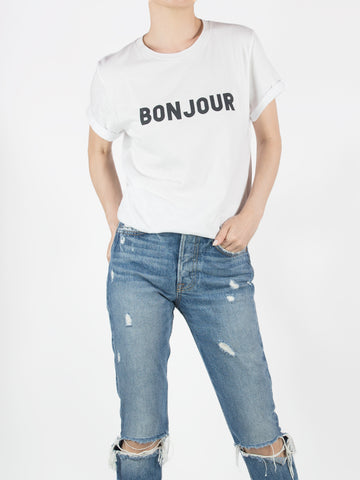 BONJOUR rolled cuff tee