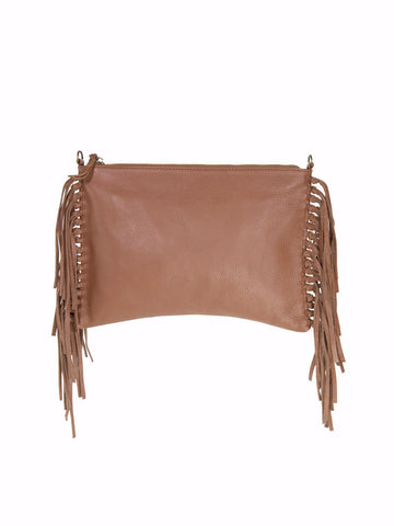 KALON fringe crossbody & clutch