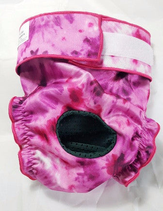 Tie Dye Female Dog Diaper – Purple