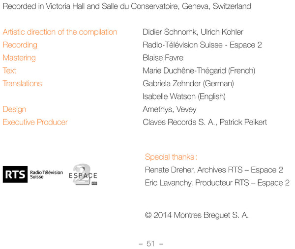 (2014) Concours de Genève – 75 years of musical discovery / DO 1411-15 - Claves Records