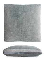 Kevin O'Brien Studio Double Tuxedo Silk Velvet Decorative Pillow - Sage