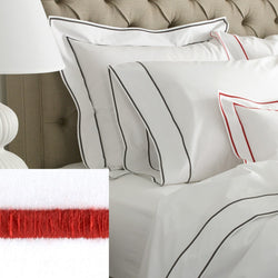Matouk Ansonia Bedding Collection - Chinese Red