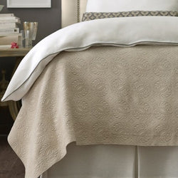 Peacock Alley Vienna Matelasse Bedding - Ivory