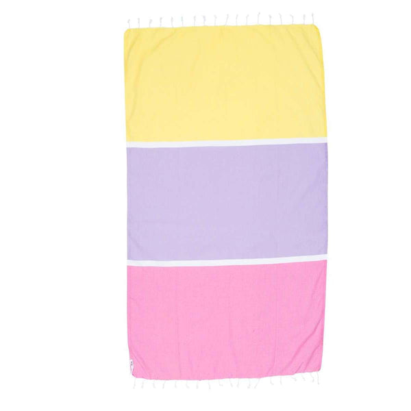 Knotty Colourblock Turkish Towel - BONDI - Knotty.com.au