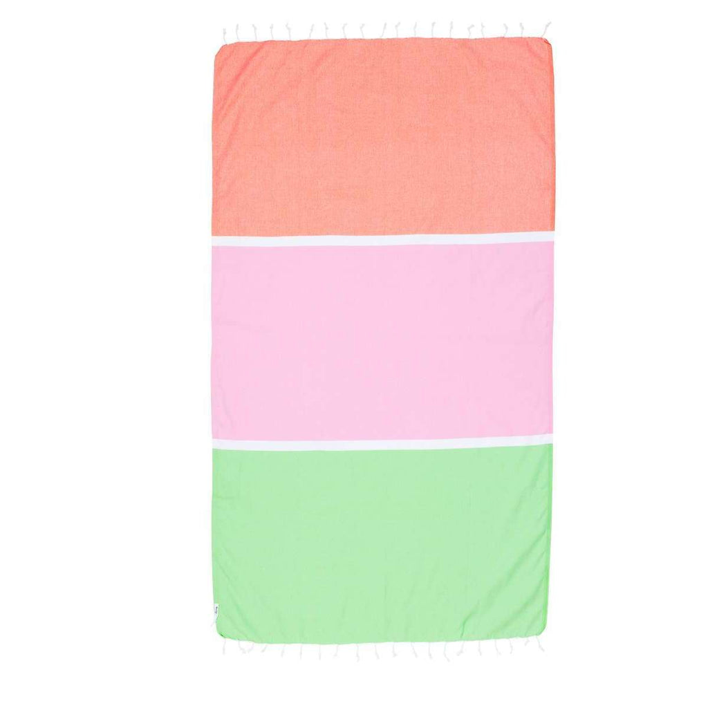 Knotty Colourblock Turkish Towel - BRONTE - Knotty.com.au