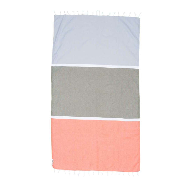 Knotty Colourblock Turkish Towel - BYRON BAY - Knotty.com.au