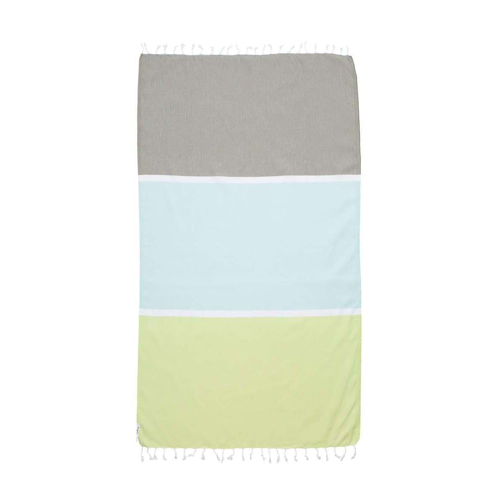 Knotty Colourblock Turkish Towel - COOLUM - Knotty.com.au