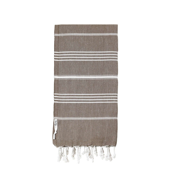 Knotty Original Turkish Towel - MOCHA - Knotty.com.au