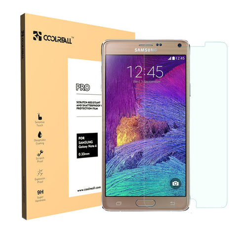 CoolReall™ For Samsung Galaxy Note 4 Tempered Glass Screen Protector Film(0.33mm