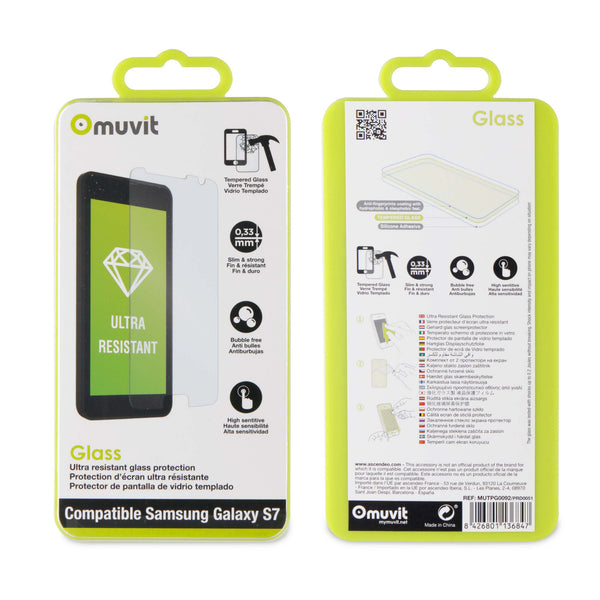 Muvit tempered glass screen protector for Samsung Galaxy S7