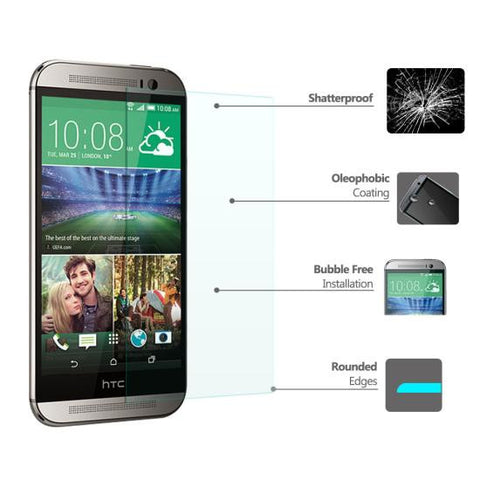 CoolReall™ HTC ONE M8 5.0 INCH Tempered Glass Screen Protector Film