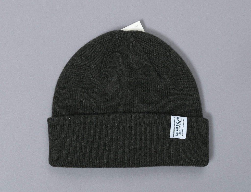 Barbour Lambswool Watch Cap Olive