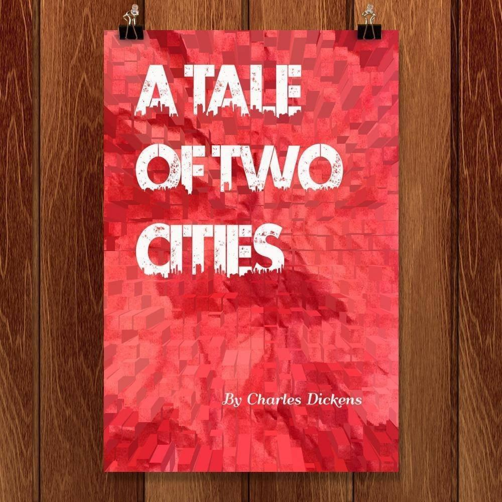 "A Tale of Two Cities by Natalia Rodriguez 12"" by 18"" Print / Unframed Print Recovering the Classics"