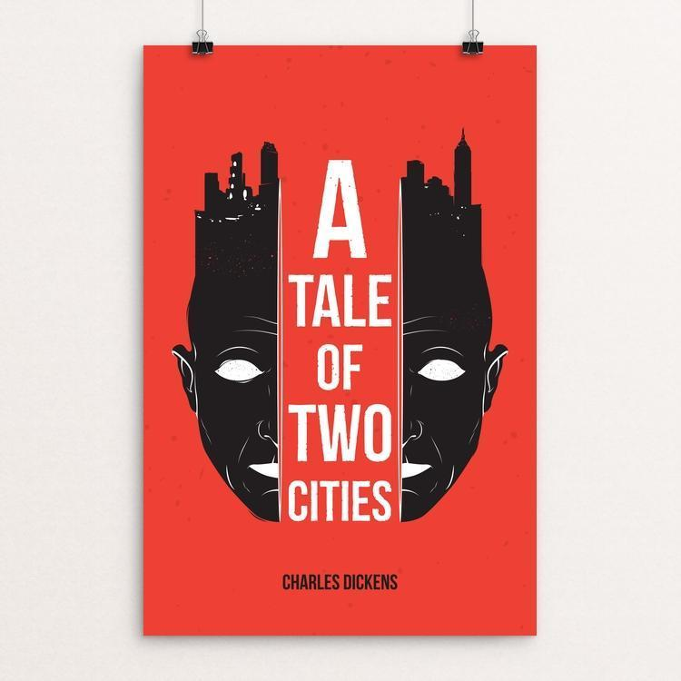 "A Tale of Two Cities by Roberlan Borges 12"" by 18"" Print / Unframed Print Recovering the Classics"