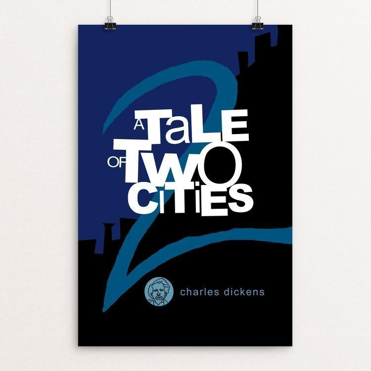 "A Tale of Two Cities by Robert Wallman 12"" by 18"" Print / Unframed Print Recovering the Classics"