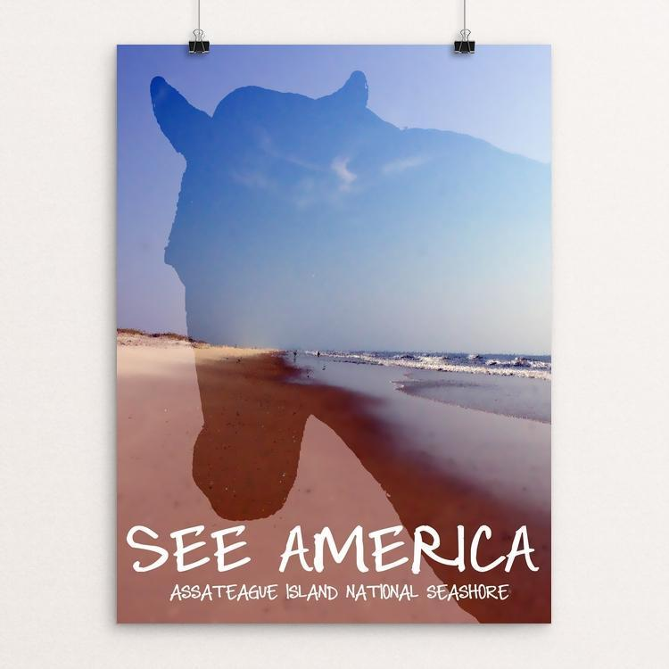 "Assateague Island National Seashore by Kaitlyn 12"" by 16"" Print / Unframed Print See America"