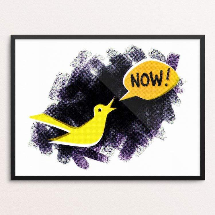 Canary in the Climate Coal Mine by Luke Massman-Johnson Print Creative Action Network