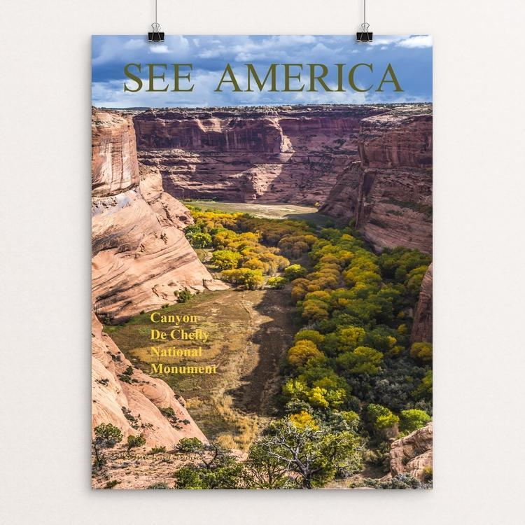 "Canyon De Chelly NM, Arizona by Michael Burke 12"" by 16"" Print / Unframed Print See America"