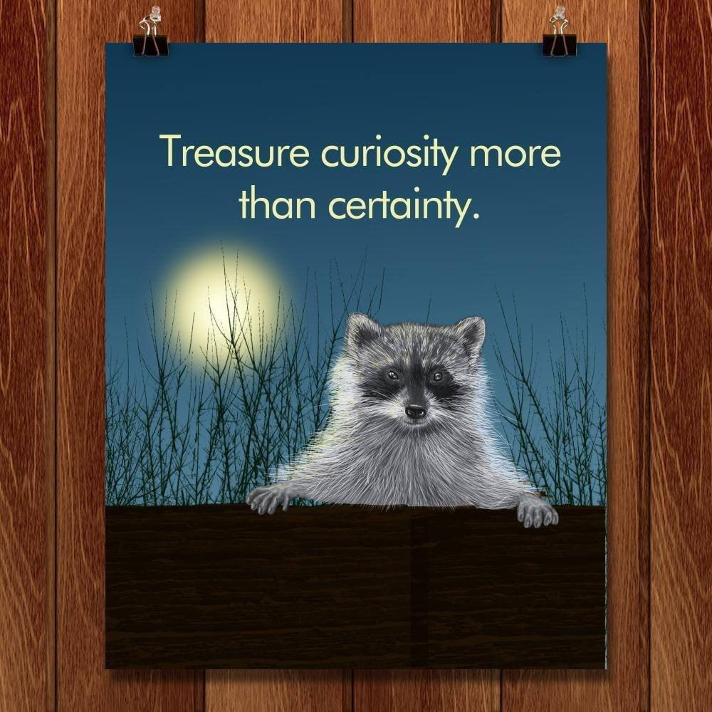 "Curious Raccoon by Lyla Paakkanen 16"" by 20"" Print / Unframed Print 1200 Posters"