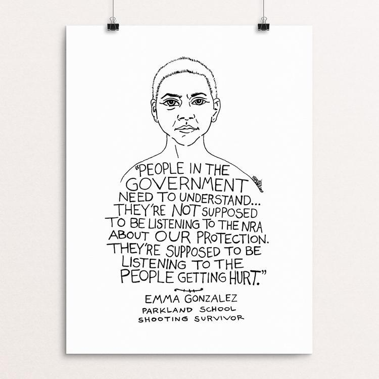 "Emma Gonzalez by Rick Frausto 12"" by 16"" Print / Unframed Print Creative Action Network"