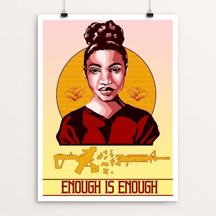 "Enough by Ryan Oakley 12"" by 16"" Print / Unframed Print Creative Action Network"