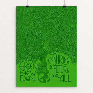 "Ensuring a Future for All by Juana Medina 12"" by 16"" Print / Unframed Print Green New Deal"
