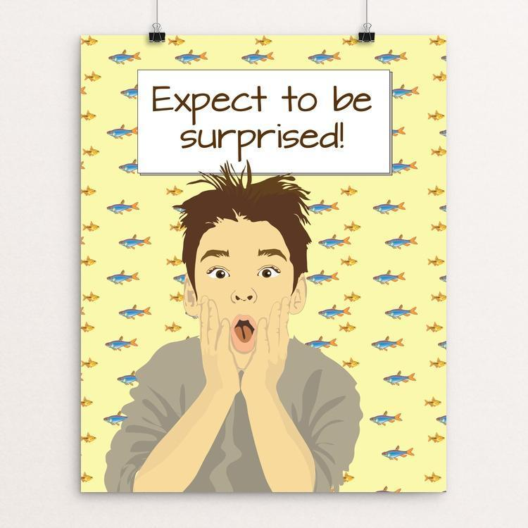 """Expect to be surprised 1"" Illustrated by Lyla Paakkanen 16"" by 20"" Print / Unframed Print 1200 Posters"