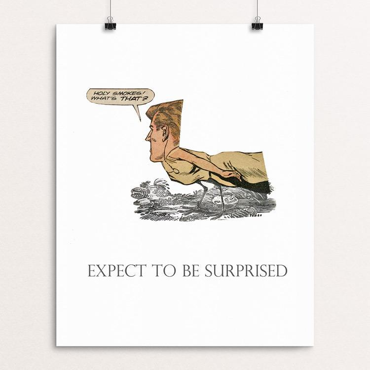 Expect to be surprised. Illustrated by Michael Thompson Unframed Print 1200 Posters