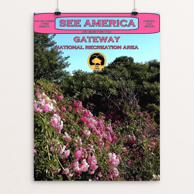 "Gateway National Recreation Area 2 by John Lincoln Hallowell 12"" by 16"" Print / Unframed Print See America"