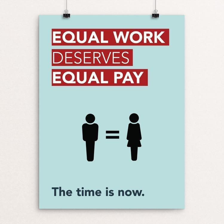 "Gender Equality Poster by Laura Wells 12"" by 16"" Print / Unframed Print Creative Action Network"