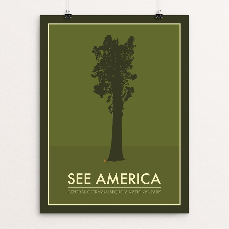 "General Sherman - Sequoia National Park by Jon Fletcher` 12"" by 16"" Print / Unframed Print See America"