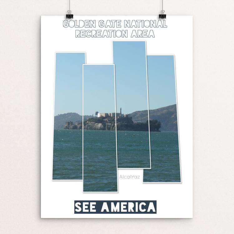 "Golden Gate Recreation Area The Rock by Bryan Bromstrup 12"" by 16"" Print / Unframed Print See America"