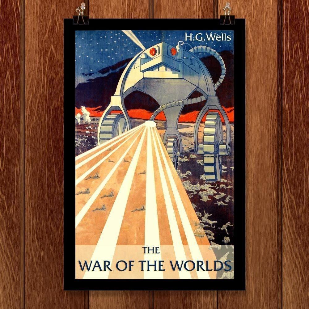 "H.G. Wells's The War of the Worlds by Erik Heldfond 12"" by 18"" Print / Unframed Print Recovering the Classics"