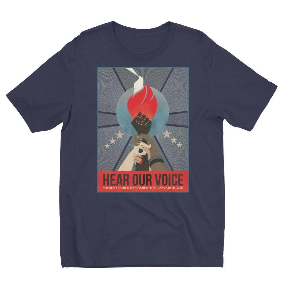 Hear Our Voice Men's T-Shirt by Liza Donovan Light Navy / S T-Shirt We Can Do It!