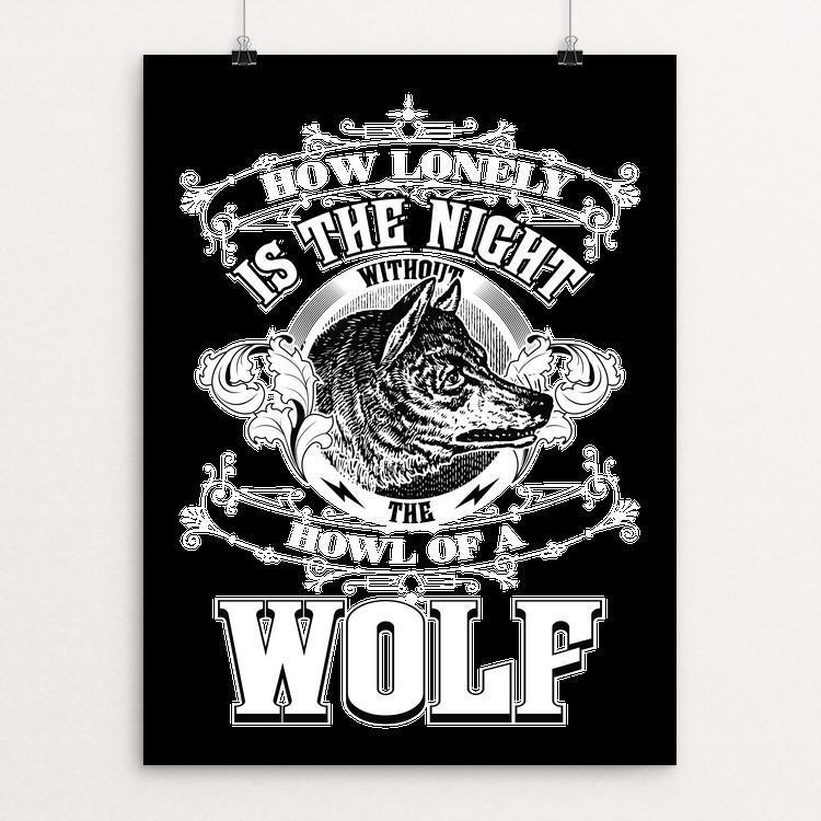 "How Lonely Is the Night by Roberlan Borges 18"" by 24"" Print / Unframed Print Join the Pack"