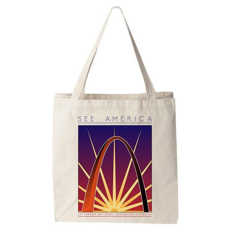 Jefferson National Expansion Memorial Tote Bag by Shane Henderson Tote Bag See America