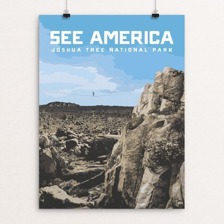"Joshua Tree National Park by Justin Beaulieu 12"" by 16"" Print / Unframed Print See America"